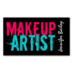 Bold Makeup Artist Business Cards. Make your own business card with this great design. All you need is to add your info to this template. Click the image to try it out!