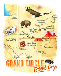 Grand Circle Road trip map for Sunday Times. Incorporating Route Las Vegas, Monument Valley, Zion National park and more. Grand Circle Road trip map for Sunday Times. Incorporating Route Las Vegas, Monument Valley, Zion National park and more. Arizona Road Trip, Arizona Travel, Travel Oklahoma, Road Trip Map, Road Trip Packing, Road Trip Essentials, Parc National, Zion National Park, National Parks