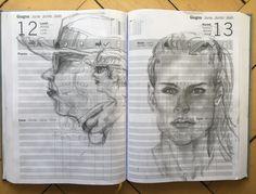 Mondays, Sketches, Calendar, To Draw
