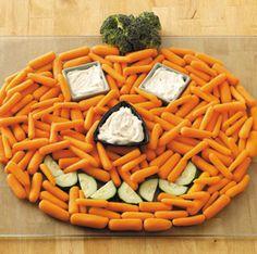 Halloween Party Platter - Vegetables #halloween #party #platter #vegetables #great #kids #party #ideas #cool #treat #treats #snack #snacks