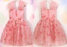 floral embroidered tulle dresses | 20% OFF SALE!!! Vintage 50s tulle Dress / pink Embroidered floral lace ...