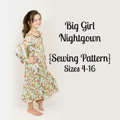 Girl Nightgown Sewing Pattern
