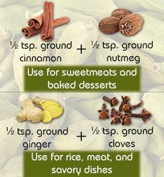 Cardamom Substitutes ~ via http://www.buzzle.com/articles/cardamom-substitute.html