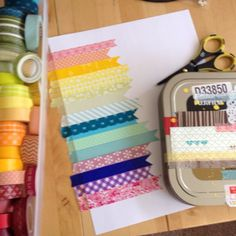 I ADORE this pretty Washi tape rainbow card!