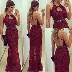 best=Prom Dress Sexy Mermaid Long Prom Dress Burgundy Prom Dress Lace Prom Dress Backless Prom Dress on Luulla Attractive Dress Backless Prom Dresses, Prom Party Dresses, Homecoming Dresses, Dress Prom, Backless Wedding, Bodycon Dress, Party Gowns, Elegant Dresses, Pretty Dresses
