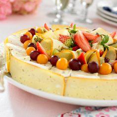 Osttårta med frukt