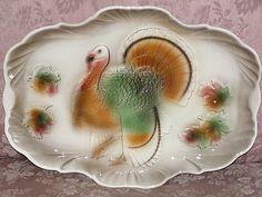 Vintage 1959 Lane and Company Turkey platter