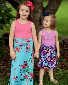 @5outof4patterns posted to Instagram: How adorable is this?!? I just love it! The skirts are the Sally skirt pattern. The knot detail on the waistband makes them unique and fun! There is just a few more hours to get the Girls' Sally skirt for just $5!! The women's version is also just $5 through today! Hurry and grab them! Link in bio :) #5outof4patterns #pdfsewingpatterns #5oo4 #pdf #isew #sewcialists #handmadewardrobe #sewing #sew #sewingproject #fabric #sewforkids #sewforboys #sewforgirls… Sewing Patterns For Kids, Sally, Knot, Sewing Projects, Summer Dresses, Detail, Link, Unique, Girls