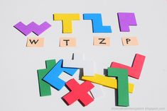 Pentomino letters made of creative foam Diy Games, Games For Kids, Letters, Logos, Creative, Primary School, Games For Children, Logo, Letter