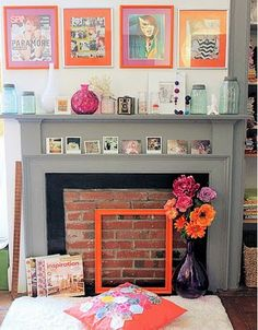 fireplace - I hate mine but this one is cute!
