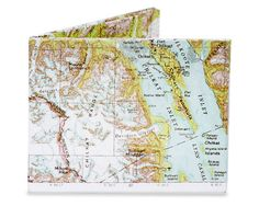Dynomighty Explorer Map The Alaskan Glacial Areas Tyvek Mighty Wallet for sale online Tyvek Wallet, Billfold Wallet, Explorer Map, Mighty Wallet, Best Wallet, Single Sheets, Alaska, Diys, Vintage World Maps
