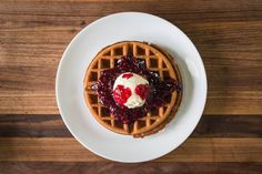 Pancakes vs. Waffle—try a butter and jam waffle. Get the recipes: http://chfstps.co/1EmbAWw