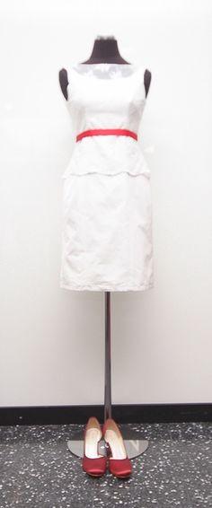 Franzi- kurzes Brautkleid im 50er Jahre Stil mit pinker Schleife ...