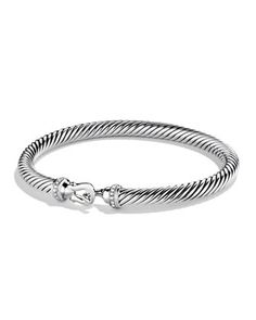 Cable Buckle Bracelet with Diamonds by David Yurman at Neiman Marcus.