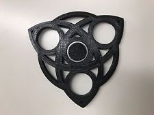 Black Fidget Spinner Hand Finger Bar EDC Pocket and Desktop play.  3D Printed