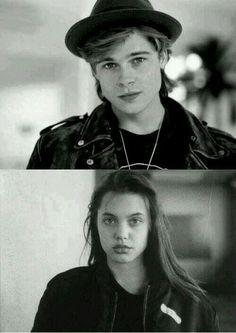 Brad Pitt & Angelina Jolie.