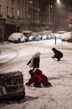Porte De Montreuil, Paris, France. #snow #contemporaryart #scene