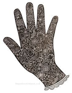 Floral Hand by @Flora Chang #illustration #art #drawing