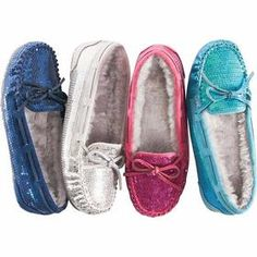 WOMEN'S SEQUIN SLIPPERS SHOWN