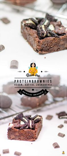 Vegane Brownies mit Oreos: Bohnen im Teig machen die Brownies besonders saftig und proteinreich, Bitterschokolade sorgt für eine super Schokoladige Note! | Backina.de