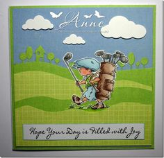 It's time for another Theme Thursday so I thought I'd stick with our June challen. Golf Cards, Men's Cards, Card Making Tips, Making Cards, Kid Character, Play Golf, Digi Stamps, Card Maker, Lily Of The Valley