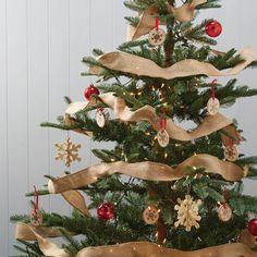 alternative hessian christmas tree tinsel by ginger ray | notonthehighstreet.com