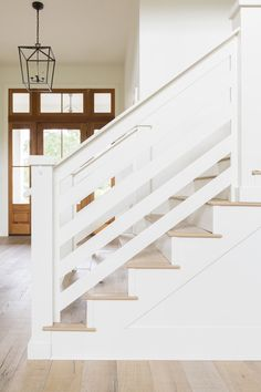 Subdued Stonebridge — Baker Design Co. Interior Stair Railing, Stair Railing Design, Staircase Railings, Banister Ideas, Loft Railing, Iron Railings, Staircases, Farmhouse Stairs, Rustic Stairs