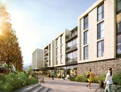 A new hospitality hub for Croydon, comprising a 435 room hotel and 158 room aparthotel with dining, conference & leisure facilities and landscaped public realm space. Thornton Heath, Public Realm, Croydon, London Hotels, Hospitality, Contemporary Design, Facade, The Neighbourhood, Landscaping