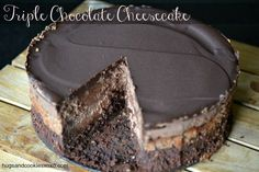 Copycat Cheesecake Factory Triple Chocolate Cheesecake - Hugs and Cookies XOXO
