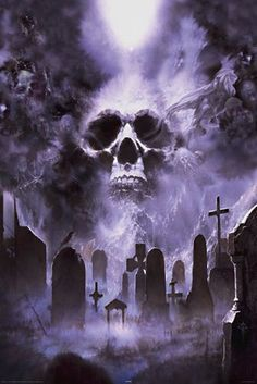 Fantasy Graveyard Tattoo Poster More