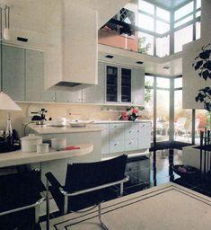 Interior Design Ideas: Inside an English Home, Rosalind Burdett, 1988 📚 Salvaged & scanned by 🖨️ 80s Interior Design, Interior S, Interior Architecture, Interior Decorating, Modern Bedroom Design, Modern Kitchen Design, Small Cottage Kitchen, Vintage Interiors, Dining Room Design