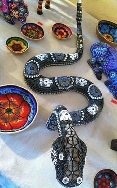 Beaded snake at the 2014 Tucson Gem and Mineral Show