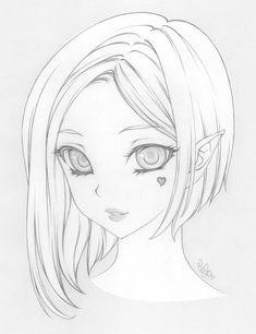 Pin de volga em muse em 2019 art drawings, anime art e manga drawing in yan Anime Drawings Sketches, Cool Art Drawings, Pencil Art Drawings, Anime Sketch, Manga Drawing, Cartoon Drawings, Drawing Tips, Drawing Ideas, Art Reference