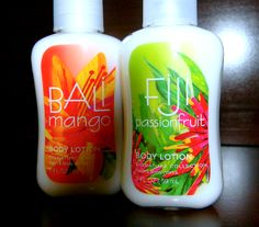 Bali Mango and Fiji Passion Fruit Lotions!