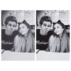 Tumblr found on Polyvore featuring ariana, ariana grande, luke and manips