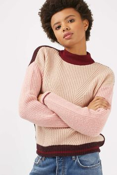 PETITE Colour Block Jumper - Sweaters & Knits - Clothing - Topshop USA