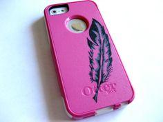 iphone 5 Otterbox caseglitter otterbox case baby blue  by JoeBoxx