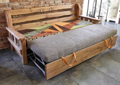 mountain style sofa.. GREAT trundle bed possibility!