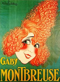 Poster by Arton Girbal, 1924, Gaby Montbreuse (french music-hall).