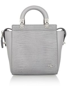GIVENCHY Small House de Givenchy bag in lizard-effect leathe