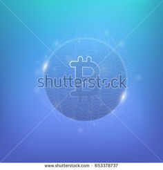 Bitcoin vector. Abstract symbol cryptocurrency. Cyber money.