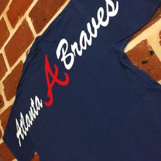 Atlanta Braves Short Sleeve Comfort Colors Monogrammed Tee on Etsy, $26.99