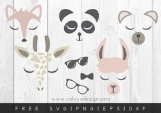 Free animal faces for boys SVG