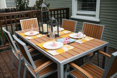 Beautiful detail in decor should end with the inside of your home. Look at this outdoor dining area! #DreamBuilders