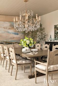 Sand colored dining room