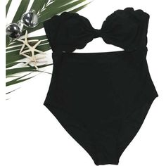 Cupshe Cut To It Shell Swimsuit ($14) ❤ liked on Polyvore featuring swimwear, one-piece swimsuits, cut out bathing suit, cut-out swimsuit, bikini swimsuit, cut out bikini and 1 piece bathing suits