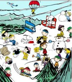 Winter Fun on the Ski Slope With Snoopy, Woodstock and the Peanuts Gang