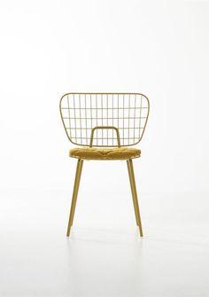 Modern Brass wire Chair