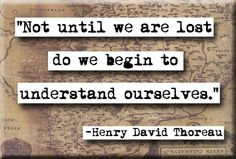 Henry David Thoreau Until We Are Lost Quote Magnet (no.223)