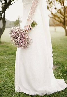 Свадебный букет из гипсофилы
